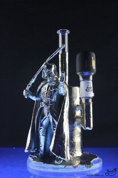This Darth Vader Concentrate Pipe will make all of you Star Wars stoners drool. This rig from No Stress Glass is simply amazing.