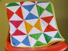 Self-binding quilt tutorial with pictures.