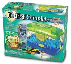 "SMALL ANIMAL - CAGES - CAREFRESH DWARF HAMSTER KIT - 16"" X 9.5"" X 12"" - WARE MANUFACTURING INC. - UPC: 791611022139 - DEPT: SMALL ANIMAL PRODUCTS"