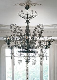 Gloria Wire chandelier from Biju