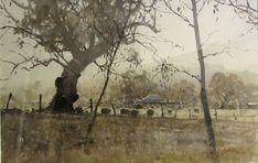 Without Pier Gallery Contemporary Art Gallery Melbourne Australia - Melbourne Art Gallery Watercolor Architecture, Watercolor Landscape, Landscape Paintings, Watercolor Paintings, Watercolours, Melbourne Art, Melbourne Australia, Scenary Paintings, Joseph Zbukvic