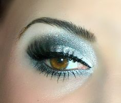 Silver and blue eye makeup. Bring out the best in your brown eyes and shop Beauty.com.