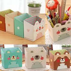 Paper Board Makeup Storage Box Cosmetic Desk Organizer Stationery DIY in Home & Garden, Household Supplies & Cleaning, Home Organization | eBay