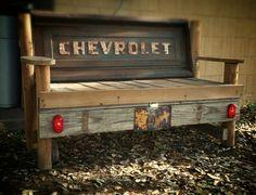 1955 Chevrolet tailgate bench