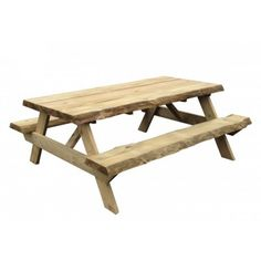 boomstam picknicktafel, picknicktafels uit boomstammen, boomstamtafel