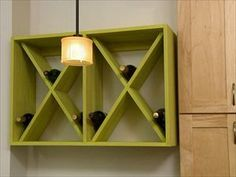 How to Build a Wall-Mounted Wine Rack : How-To : DIY Network # diy wine rack wall how to build How to Build a Wall-Mounted Wine Rack Built In Wine Rack, Wood Wine Racks, Wine Rack Wall, Wine Shelves, Wine Storage, Storage Ideas, Storage Shelving, Yarn Storage, Towel Storage