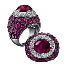 Robert Procop Burmese Ruby & Diamond Ring   Betteridge