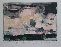 Haliburton Early August Original Landscape Watercolor by Paintbox, $50.00