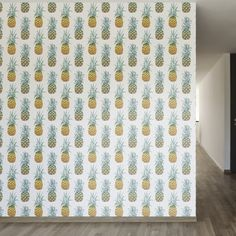 "Pineapple Purist Removable 8' x 20"" Wallpaper"