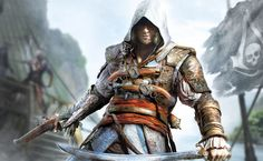 Two days before Ubisoft gives the official details of their upcoming Assassin's Creed title, a new CG trailer is leaked. Assassin's Creed IV: Black Flag will feature Connor's grandfather, Edward Kenway as the main protagonist of the game. Xbox 360, Playstation, The Assassin, Wii U, Renaissance, Assassin's Creed Wallpaper, Jeux Xbox One, Assassins Creed Black Flag, Splinter Cell