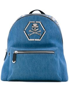 PHILIPP PLEIN Arue backpack. #philippplein #bags #leather #polyester #backpacks #cotton #