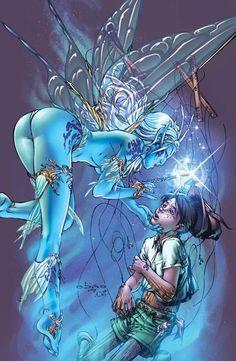 Pinocchio & The Blue Fairy by Eric Basaldua