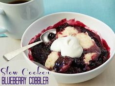 How to Perfect a Slow Cooker Blueberry Cobbler. Fruit cobblers are always delicious but adding it to a slow cooker or crock pot is even better!