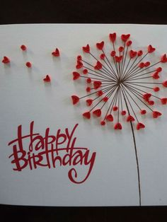 handmade quilling paper art, birthday card