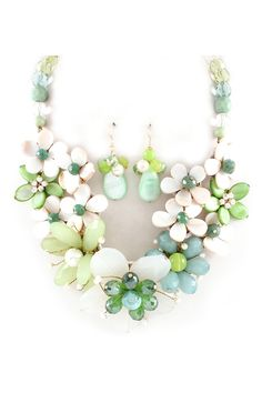 Magnolia Necklace in Early Spring on Emma Stine Limited