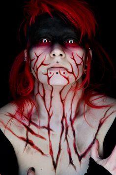 Zombie look. Tweak it a little for zombie little red riding hood???