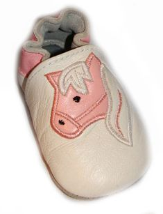 """Baby Horse"" Pink and White Cowgirl booties"