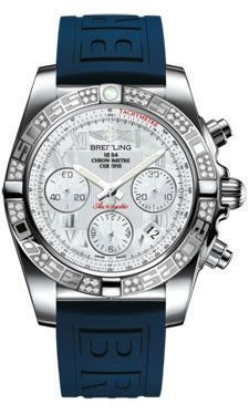 bb7d411556 Breitling Chronomat 41 Steel Dia Bezel Diver Pro III Strap Tang  AB0140AA/A746
