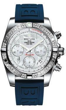 Breitling Chronomat 41 Steel Diamond Bezel Diver Pro III Strap Tang AB0140AA/A746