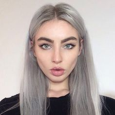 You should go for Grey Hair Trend through natural ways. A few photos of grey hair is shown below. Grey Hair Trend is one of the latest trends. Silver Hair Girl, Silver Grey Hair, Long White Hair, Hair Inspo, Hair Inspiration, Character Inspiration, Dye Eyebrows, Grey Hair Eyebrows, Grey Hair Wig