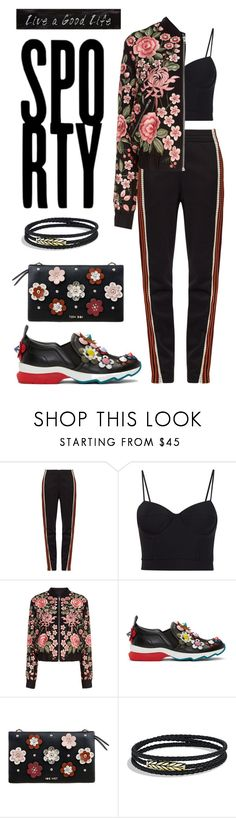 """Untitled #93"" by madedinorog ❤ liked on Polyvore featuring Wales Bonner, Alexander Wang, Needle & Thread, Fendi, David Yurman and Creative Co-op"