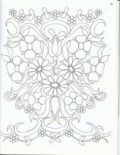 Floral Embroidery Patterns, Folk Embroidery, Hand Embroidery Designs, Vintage Embroidery, Applique Designs, Embroidery Stitches, Indian Embroidery, Tole Painting, Fabric Painting