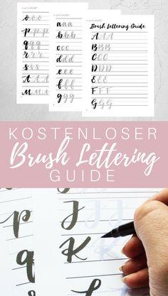 Kostenloser Brush Lettering Guide zum Downloaden und Ausdrucken