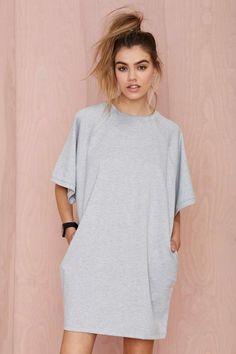BLQ Basiq Loose It Tee Dress - Day | Shift | Solid | All | Clothes | Basic |  | BLQ Basiq | Dresses | All | Newly Added |  | Dresses