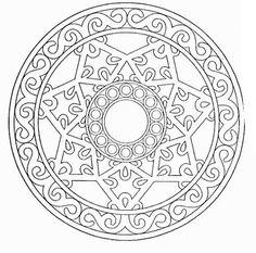 free online coloring sheet of geometric pattern to print