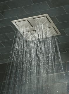 Buy the Kohler Polished Chrome Direct. Shop for the Kohler Polished Chrome Modern MasterClean WaterTile Rain Shower Overhead Shower Head with Inch Connection and save. Home Office Design, House Design, Overhead Shower Head, Kohler Shower, Faucet Parts, Modern Shower, Shower Doors, Shower Tiles, Southern Homes