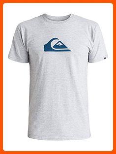 Quiksilver Men's Everyday Logo Short Sleeve Tee Shirt, Heather, Medium -  Mens world (