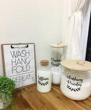 Laundry Label Sets - Kmart Jars Laundry Label Sets – Pantry Kmart Jars – Pretty Little Designs – Pretty Little Designs Pty Lt Laundry Decor, Laundry Storage, Laundry Hacks, Laundry Room, Kitchen Jars, Kitchen Decor, Kitchen Ideas, Laundry Labels, Kmart Decor