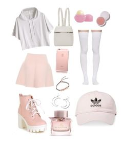 """""""Pastel pretty"""" by crybaby1021 ❤ liked on Polyvore featuring RED Valentino, Kara, Monica Vinader, Ana Accessories, Burberry, Eos, Marieyat, adidas, cute and kawaii"""