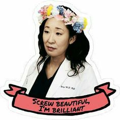 Cristina Yang by emilysmithart Grey's Anatomy, Greys Anatomy Frases, Grey Anatomy Quotes, Meredith Grey, Sandra Oh, Youre My Person, Girl Problems, Cristina Yang Quotes, Notebook Stickers