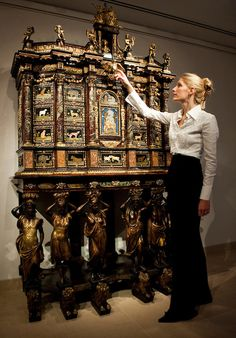 A 17th century Louis XIV cabinet-on-stand, made by Italian furniture master Dominico Cucci