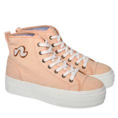 Jet Platform high - Salmon Women's Shoes, Noodles, Salmon, High Tops, Jet, High Top Sneakers, Footwear, Platform, Fashion