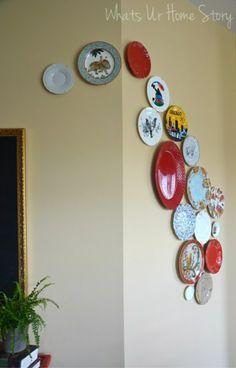 Decorar la pared con platos en cascada - http://ini.es/1oy5HAw
