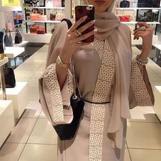 Buy 2017 Autumn Women Abaya Muslim Kaftan Hijab Burqa Long Sleeve Islamic Maxi Dress at Wish - Shopping Made Fun Street Hijab Fashion, Arab Fashion, Dubai Fashion, Islamic Fashion, Muslim Fashion, Modest Fashion, Estilo Abaya, Mode Abaya, Modern Hijab