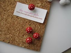 Cute Mushroom Pushpins