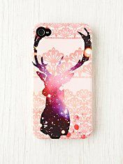 deer and glitter iPhone Case