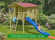 Kinderspielhaus Garten: Aufregend und spannend, dieses Stelzenhaus sorgt für jede Menge Spaß! Ob zum Klettern, Rutschen oder Chillen, hier wird der Kinderfantasie keine Grenzen gesetzt! Machen Sie Ihren Kindern eine Freude! Nursery Crafts, Tikal, H & M Home, 4 Kids, Children Play, Play Houses, Kids Playing, Ideas Para, Playground