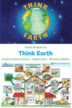 Think Earth students end up using 15% less energy at home! Free downloadable lessons at thinkearth.org/curriculum