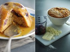 Steamed White Chocolate Pud with Toffee Sauce