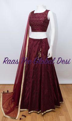 choli-Raas The Global The Global Desi Half Saree Lehenga, Lehenga Saree Design, Lehenga Gown, Party Wear Lehenga, Lehenga Designs, Party Wear Dresses, Anarkali, Sari, Indian Gowns Dresses