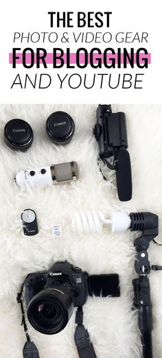 Comprehensive list of every piece of photo and video gear worth picking up. Ther… Comprehensive list of every piece of photo and video gear worth picking up. There are even some photo styling props and tricks! Blog Tips, Make Money Blogging, How To Make Money, Money Tips, Best Camera For Blogging, Blogging Ideas, Affiliate Marketing, Online Marketing, Marketing Tools