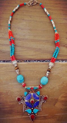 Turquoise jewelry Turquoise necklace by ZamarutJewel on Etsy