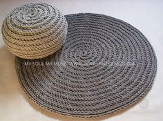 Grigio cordoncino in cotone Tappeto rotondo tappeto