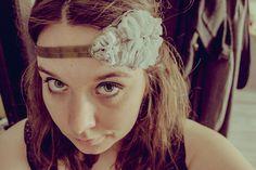 """head band """" Grey flora """" Vinage, rétro & romantique : Accessoires coiffure par sunshine59"""