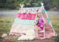 Ruffle Tent - Photo Prop - Teepee
