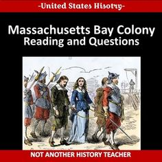 This is a simple two page worksheet with 6 reading questions on the Massachusetts Bay Colony. It was designed in word and can be modified for your classroom. History Teachers, Teaching History, Teaching Resources, Massachusetts Bay Colony, Student Learning, Colonial, United States, Classroom, The Unit